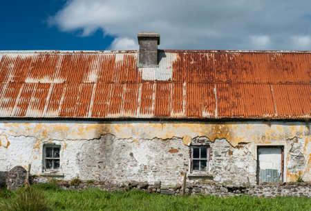 Old abandoned Irish farmhouse cottage