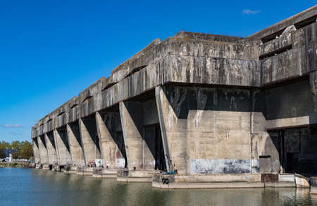 World War 2 BETASOM submarine base in Bordeaux, France Editorial