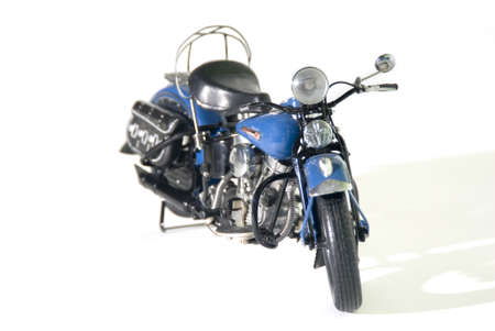 a beautiful blue motor cycle. Stock Photo