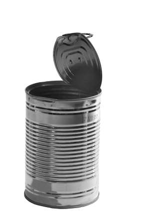 an tin can on a white background, isolated photo
