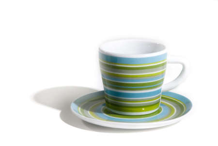 coffeecup: a blue and green coffeecup
