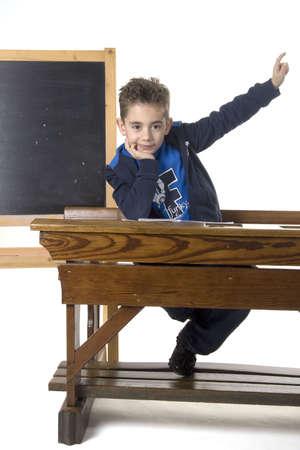een jongen wil dat de vraag de leerkracht iets