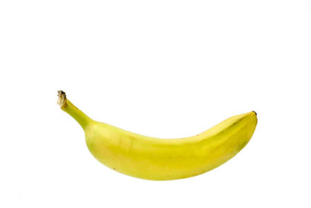 a single bananas isolated on white