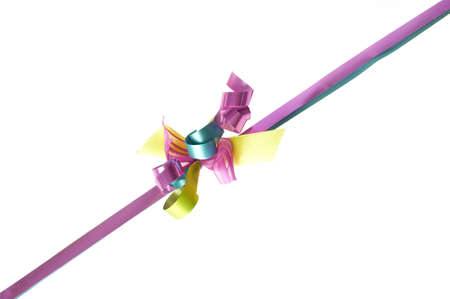 colorful bow, isolated on a white background photo