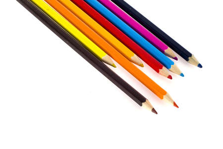 criss: colorful pencils isolated on a white background
