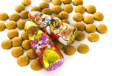 gingernuts: a lot of sweet candy for celebrating sinterklaas in the netherlands on the fifth of December