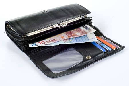 a wallet for cards and money photo