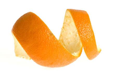 Peel orange, isolées sur blanc