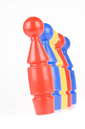six bowling pinsl, toys for a child photo