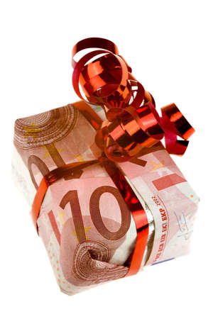 a little money present with a bow photo