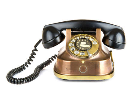 bakelite: an old fashioned telephone Stock Photo