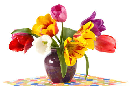 beautiful tulips in a vase Stock Photo - 7323192