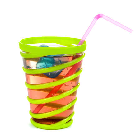 a glass with lemonade on a party