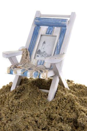 silla playa: con una silla de playa de arena