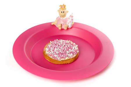 biscotte: un rusk avec des souris blanches et roses, une tradition n�erlandaise Banque d'images