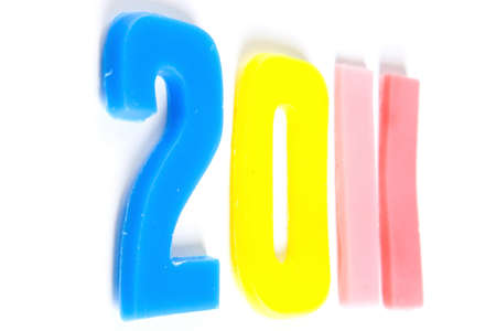 0 1 year: the new year 2011 Stock Photo