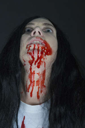 a scary women, dressed for halloween Stock Photo - 7927168