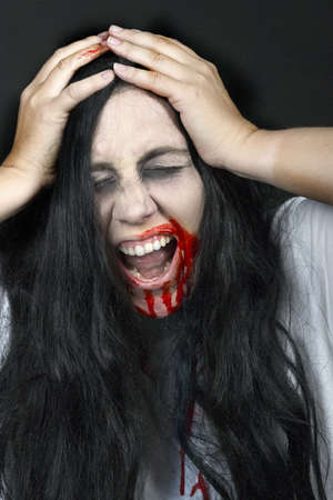 a screaming women, dressed for halloween Stock Photo - 7927169