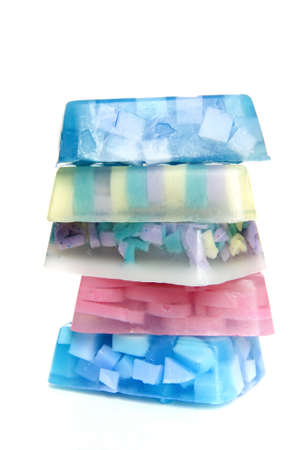 five pieces of colorful soap Stock Photo