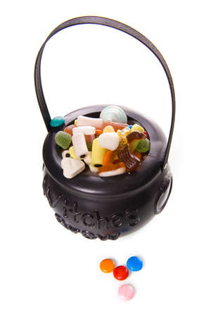 soup kettle: a witch brew with a lot of candies