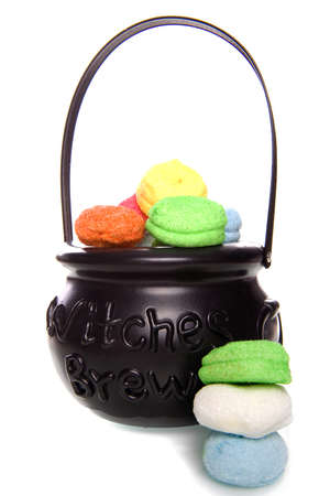 a witch brew with marshmellows photo