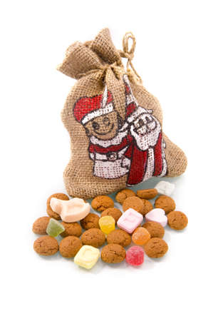 nuts with a bag for 'Sinterklaas', a dutch tradition Stock Photo - 7958677