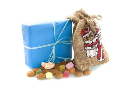 a bag, a present, nuts for