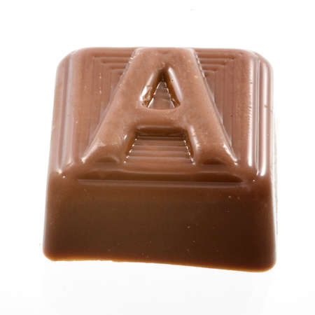 The chocolate letter B photo