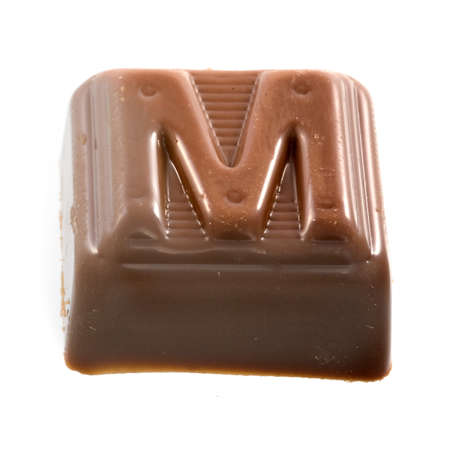 The chocolate letter M photo