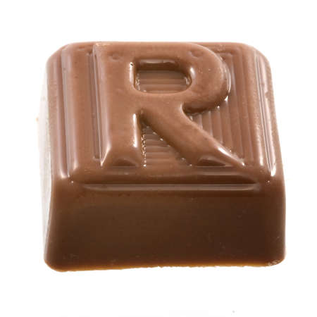 The chocolate letter R