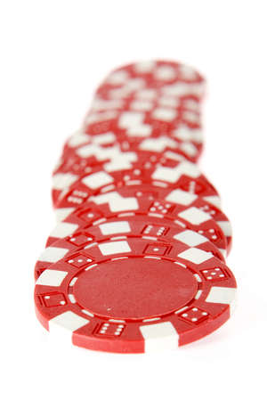 tokens: a row of red tokens on white