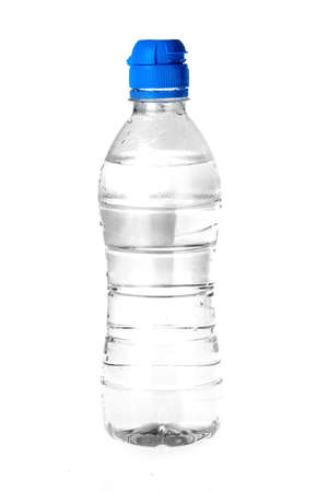 a bottle of water on a white background photo