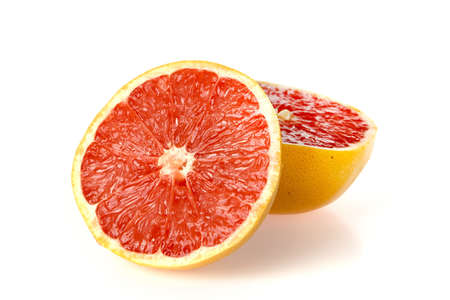 a grapefruit on a white background