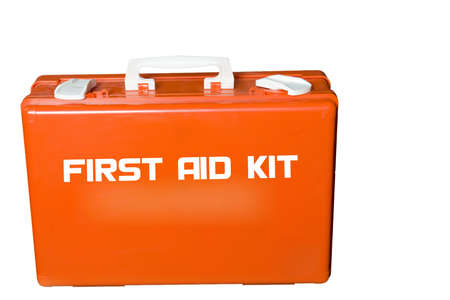 first aid kit on a white background photo