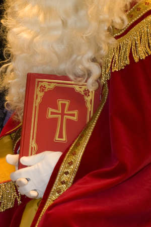 a closeup of the big book of  Sinterklaas Stock Photo