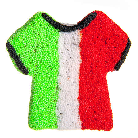 a sport shirt with the italian flag, for euro 2012 photo