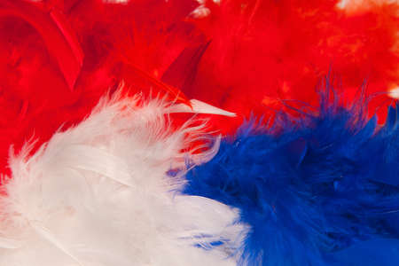 fan stuff for the europian football championship in the colors of the dutch flag, red,white and blue