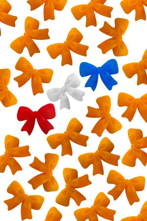 a lot of orange bows, symbol of the dutch coronation