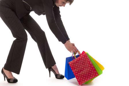 go shopping: a happy business girl go shopping