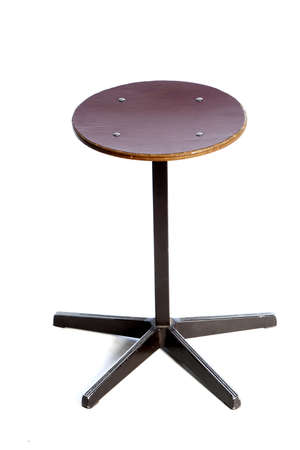 a stool, used at school, on a white background photo
