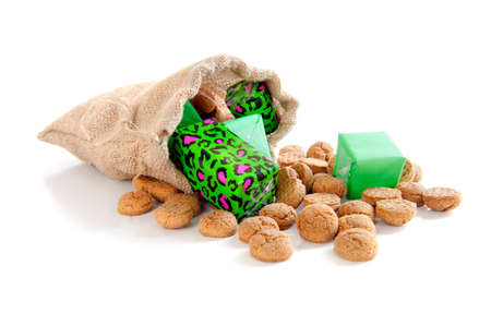 gingernuts: gingernuts and presents for celebrating a dutch holiday   Sinterklaas    on the fifth of December