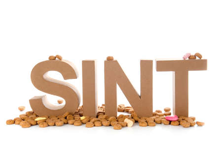 Sint  a dutch word for celebrating  Sinterklaas   on the fifth of December Stock Photo