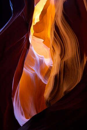 Inside Lower Antelope Canyon, Page, Arizona  Фото со стока