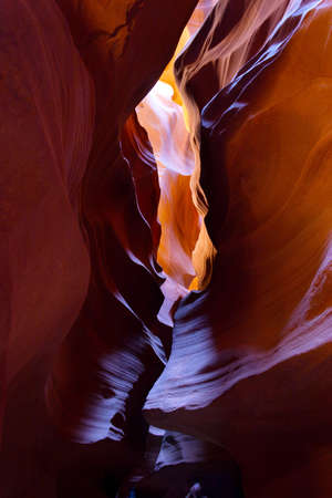 geological formation: Inside Lower Antelope Canyon, Page, Arizona  Stock Photo