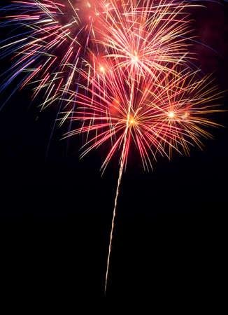 Fireworks in the night sky Фото со стока