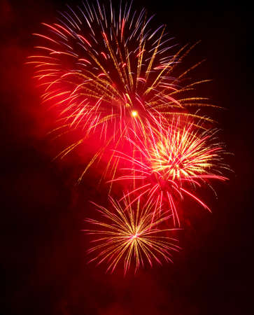 fire crackers: Fireworks in the night sky Stock Photo