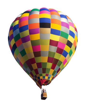 hot pink: Colorful Hot Air Balloon Isolated on White Background Stock Photo