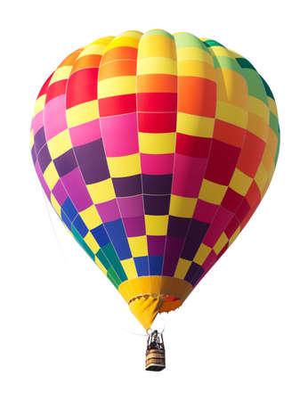 Kleurrijke hete luchtballon op een witte achtergrond