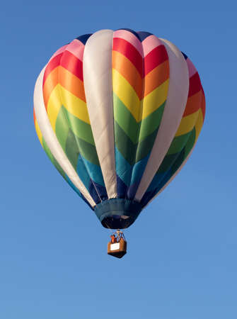 Colorful hot air balloon launched at the annual Metamora Country Days and Hot Air Balloon Festival