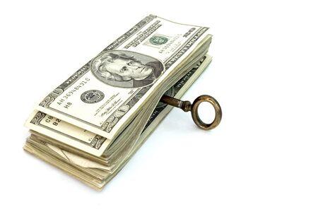laundered: key for money Stock Photo
